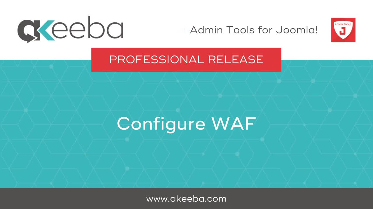 Configure Web Application Firewall (WAF)