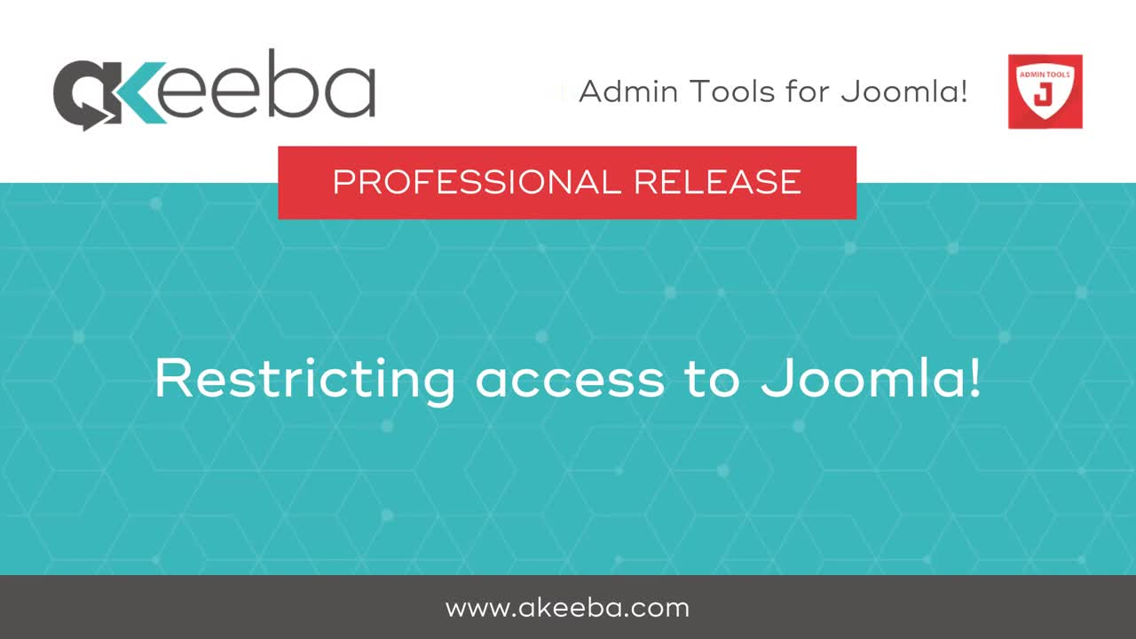 Restricting Access to Joomla