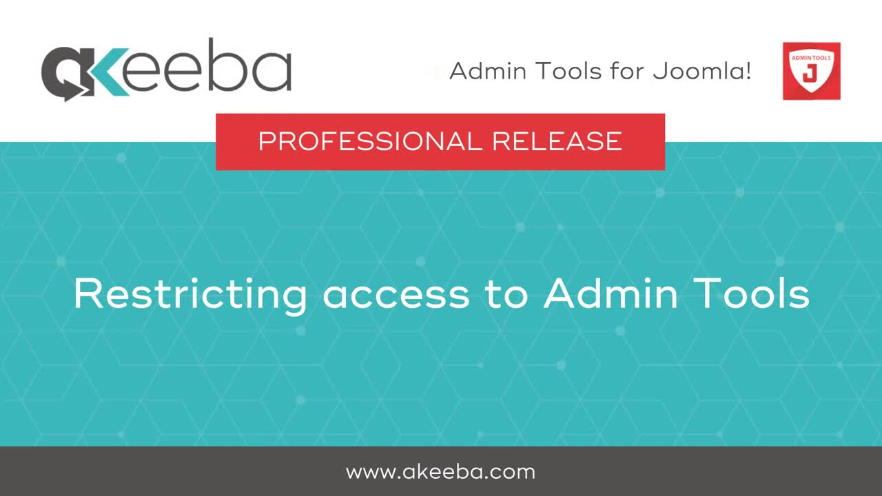 Restricting Access to Admin Tools