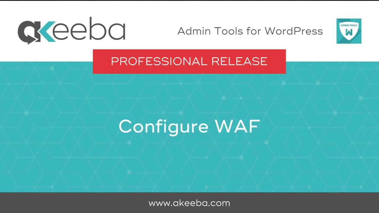Configure WAF (Web Application Firewall)