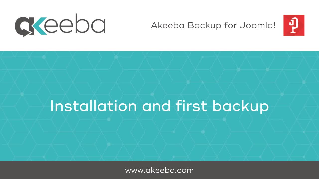 Installation and First Backup