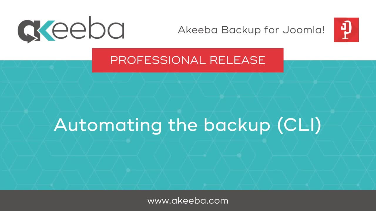 Automating the Backup (CLI)