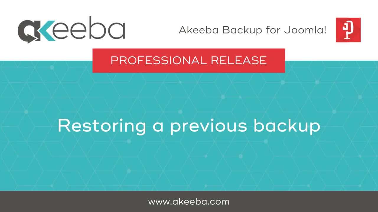 Restoring a Previous Backup