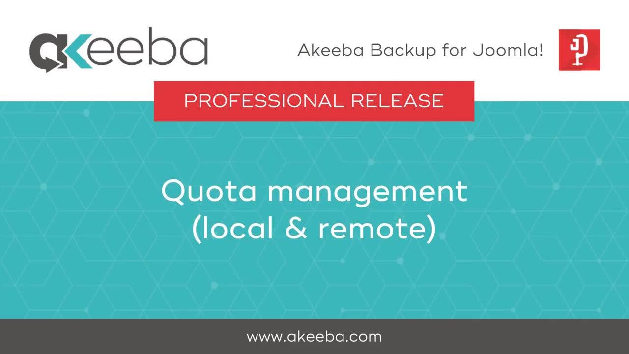 Quota Management (local & remote)