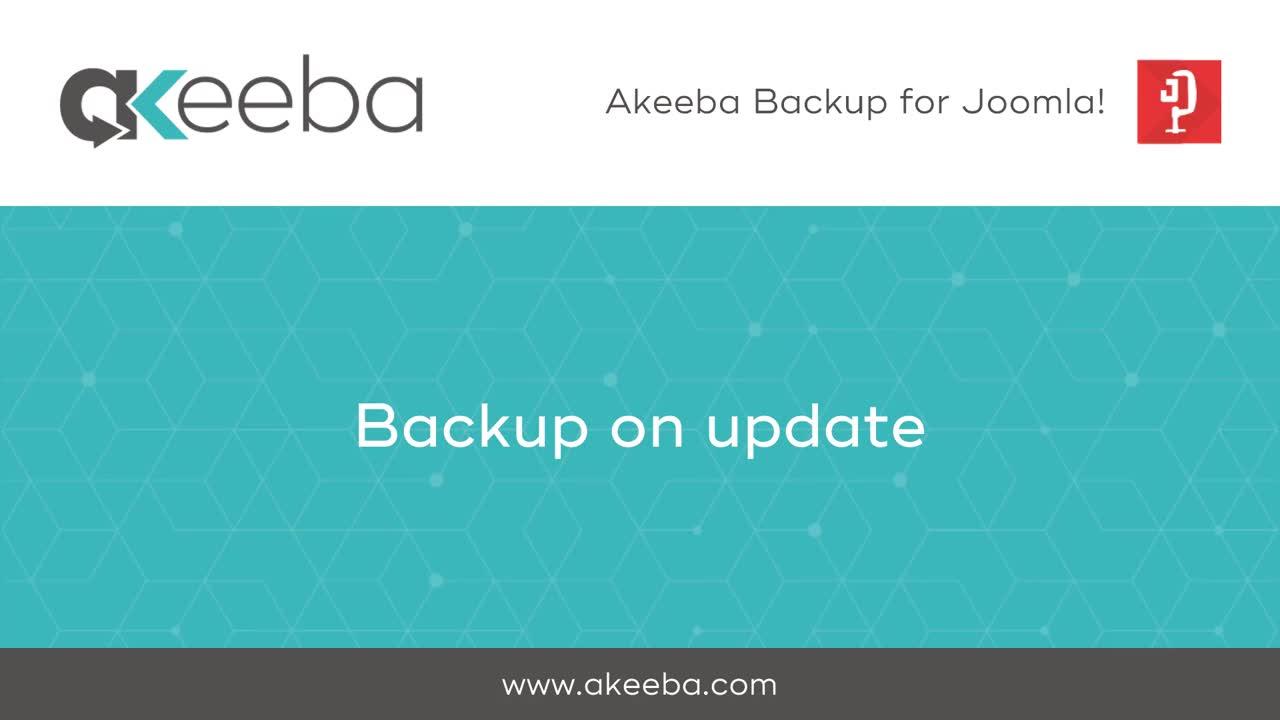 Backup on Update