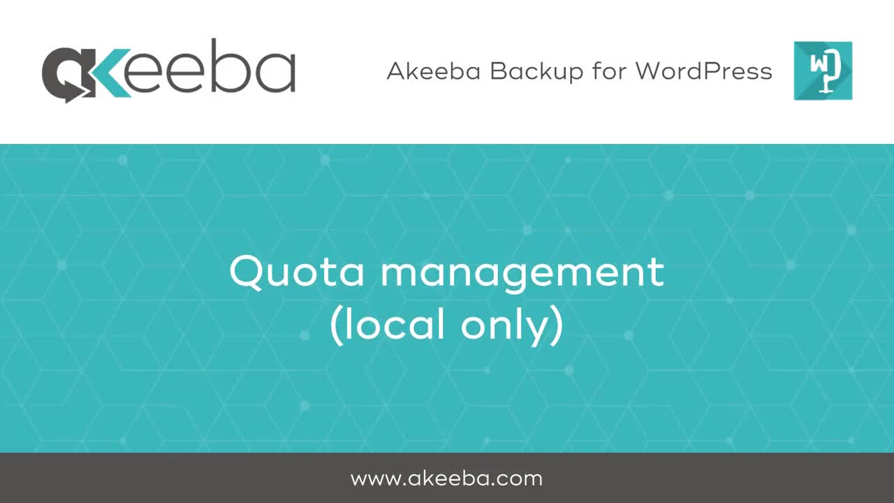 Quota Management (local only)