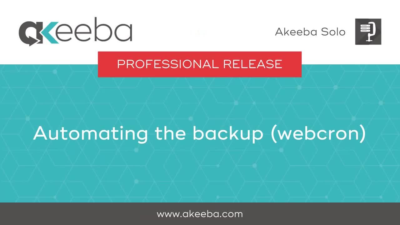 Automating the Backup (WebCron)