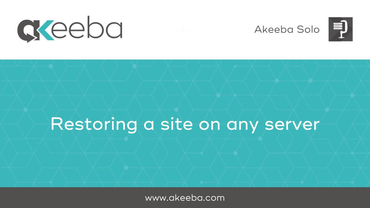 Restoring a Site on Any Server