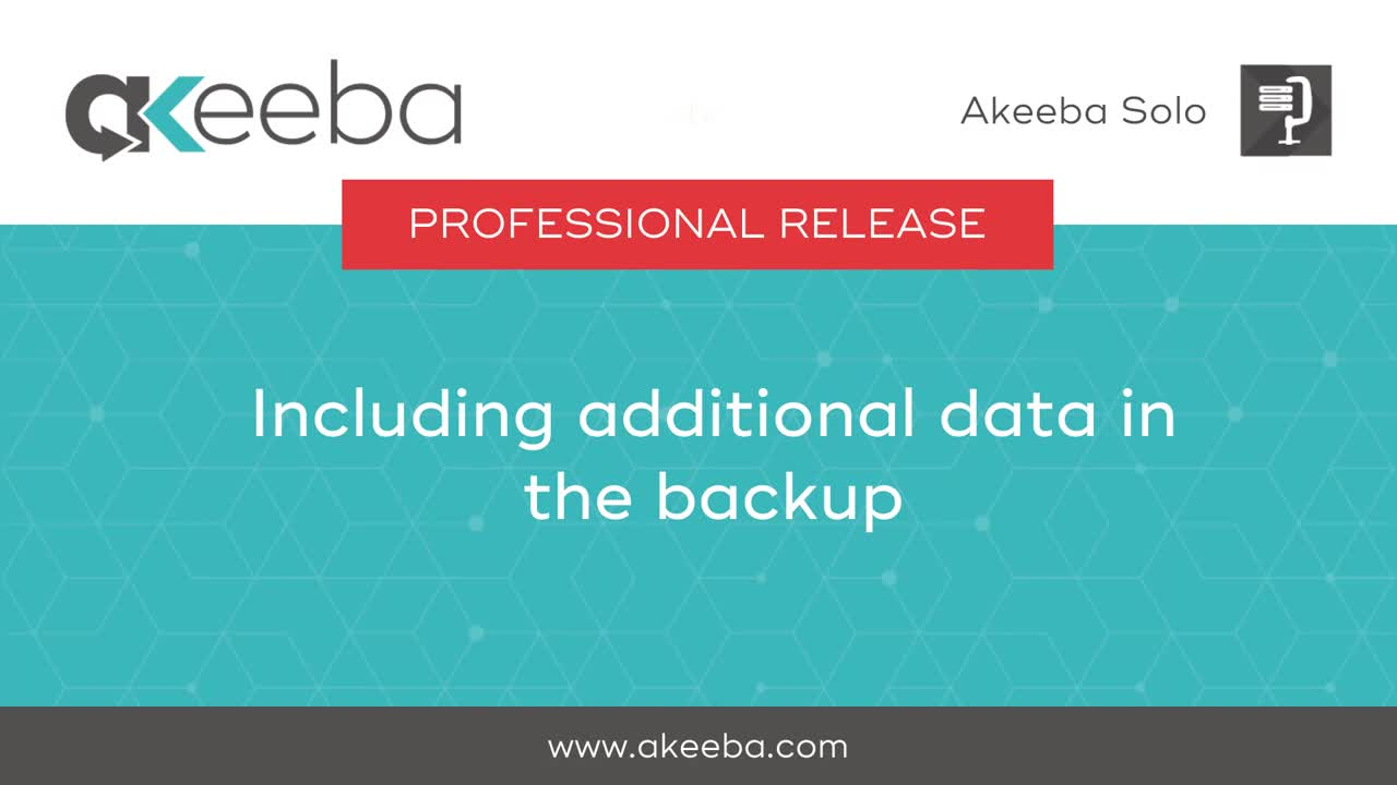 Including Additional Data in the Backup