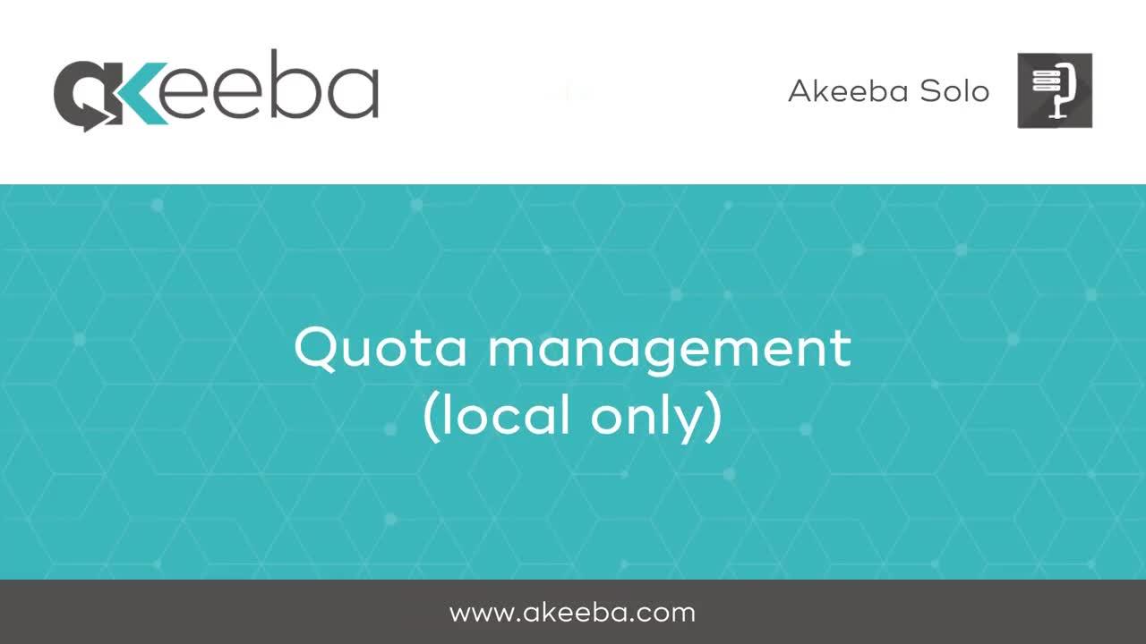 Quota Management (local storage)
