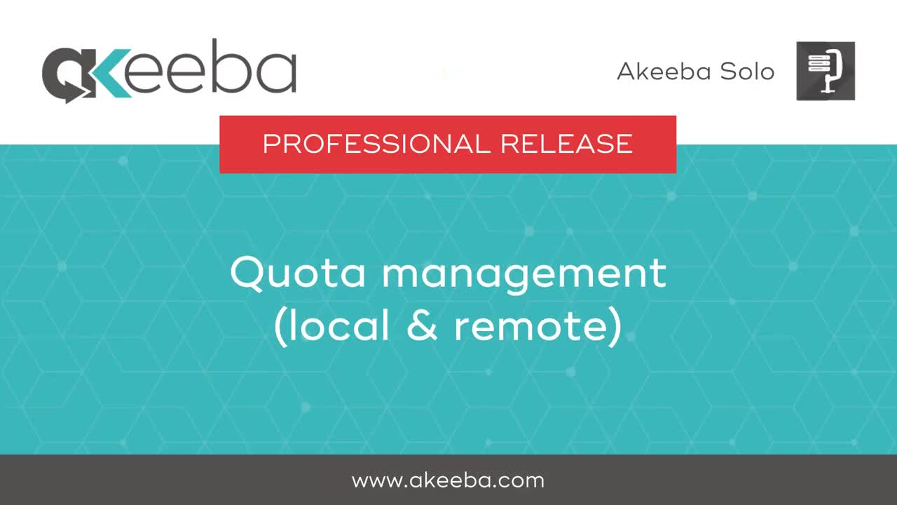 Quota Management (local and remote)
