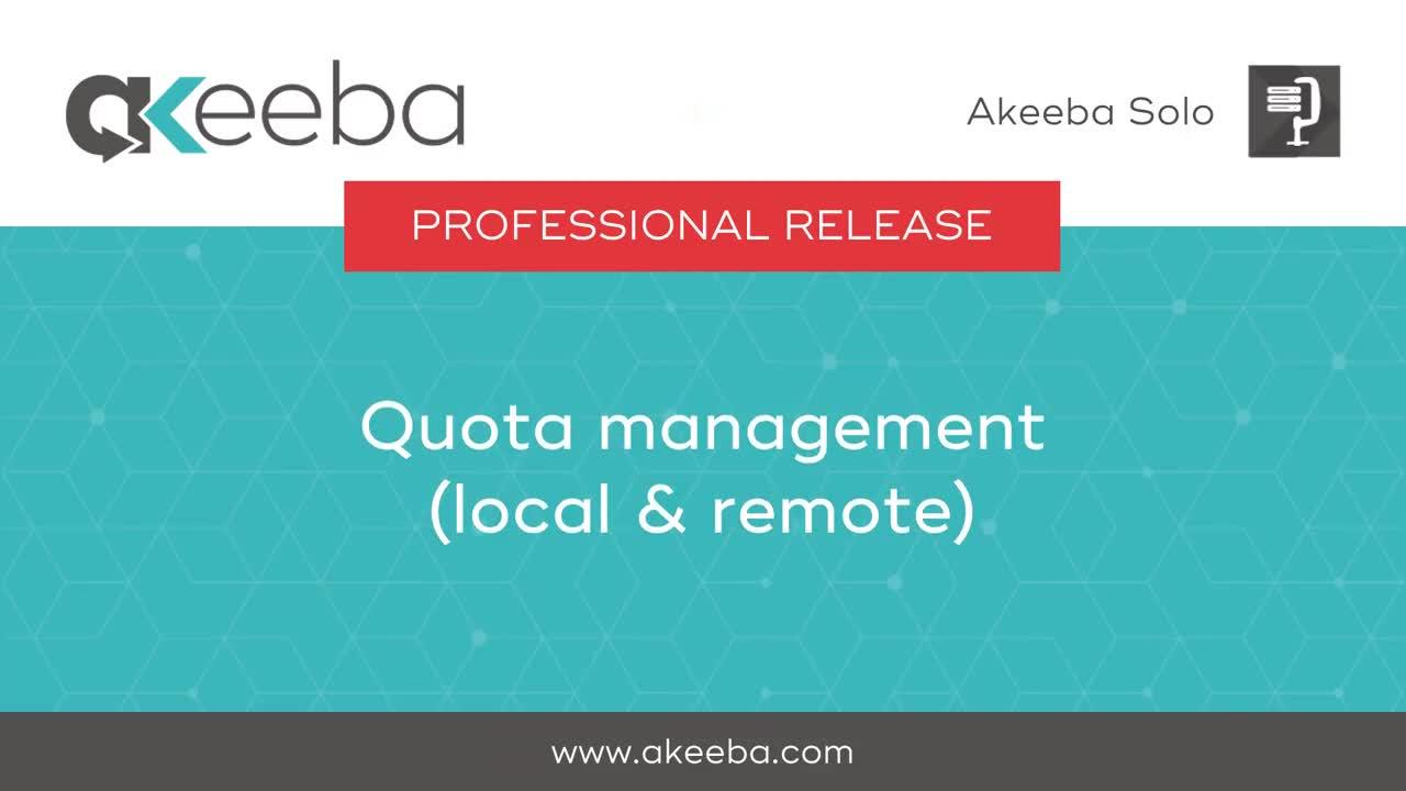 Quota Management (local and remote)