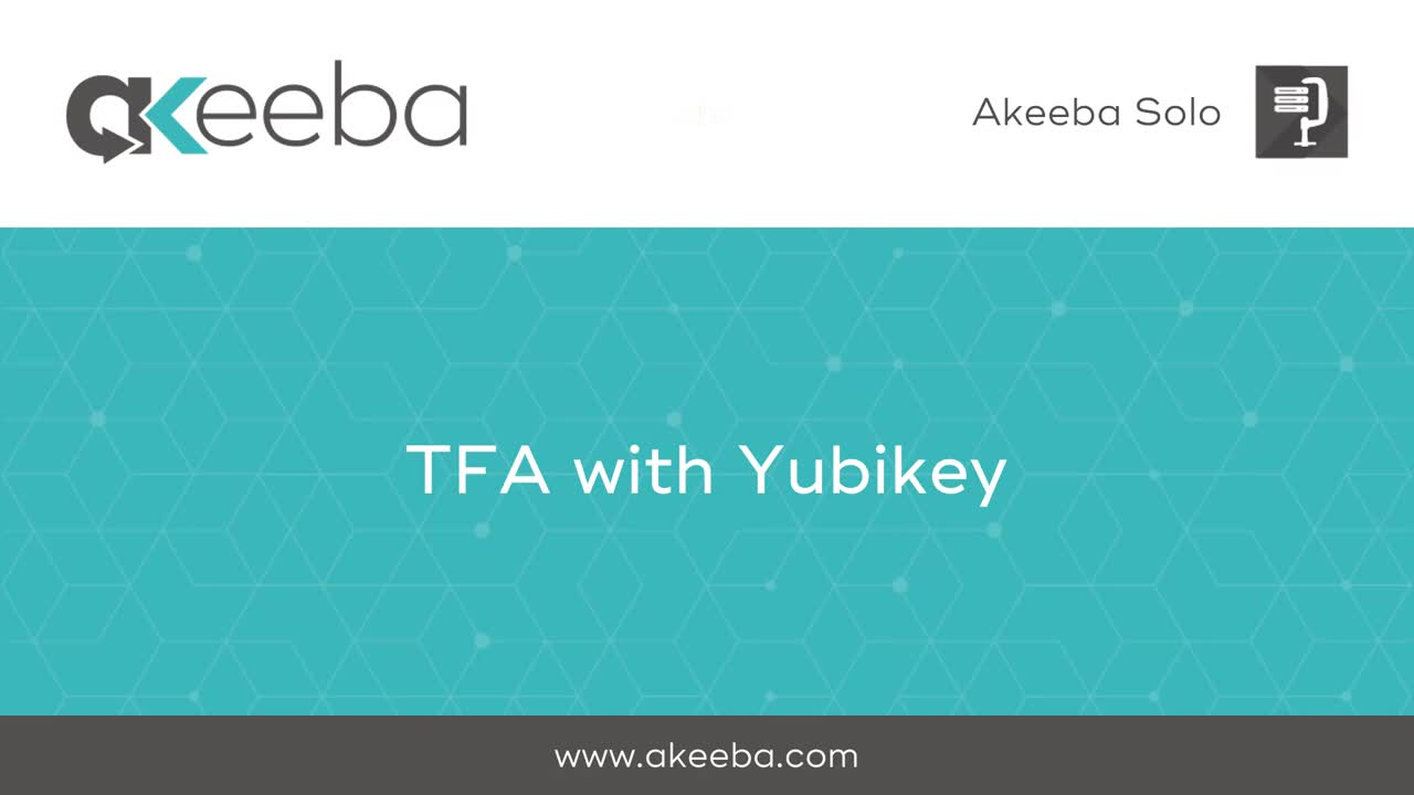 TFA with Yubikey