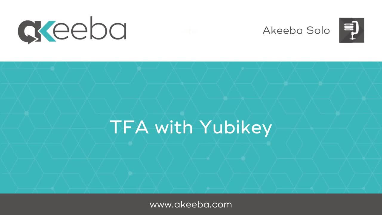 TFA with Yubikey