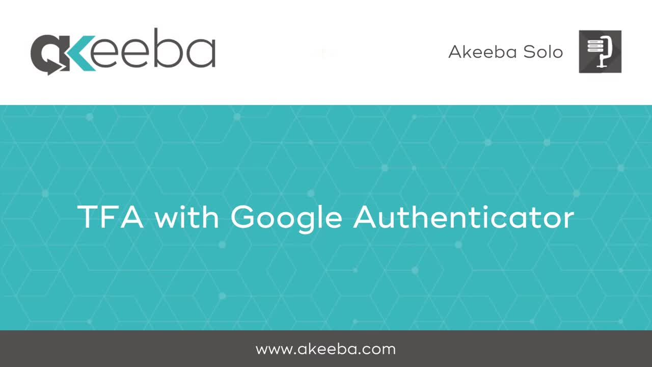 TFA with Google Authenticator